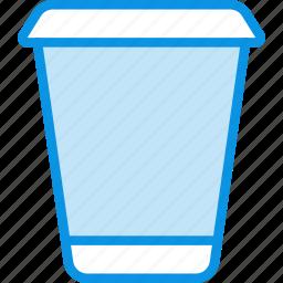 coffe, drink, glass, hot, plastic, takeaway, tea icon