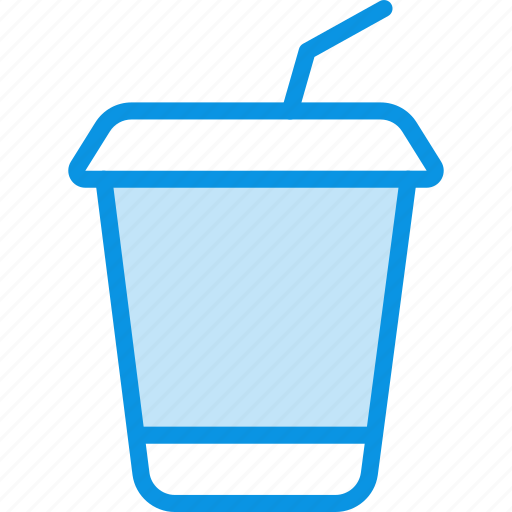 cocktail, cola, drink, glass, plastic, soda, takeaway, tubule icon