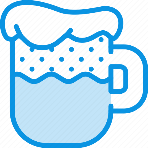 beer, foam, mug icon