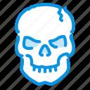 halloween, skull, spooky icon