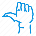 halloween, hand, like, zombie icon