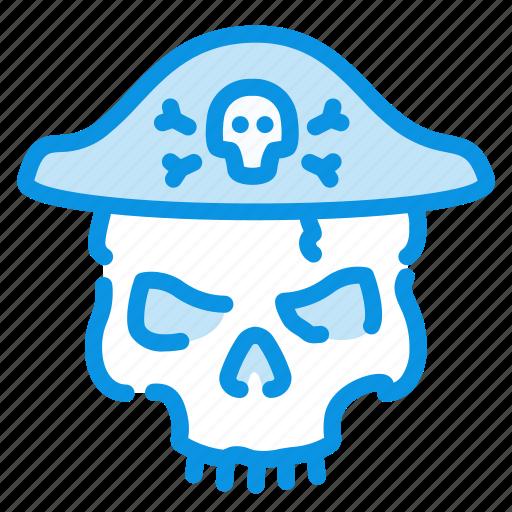 halloween, pirate, skull icon