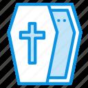 casket, coffin, halloween icon