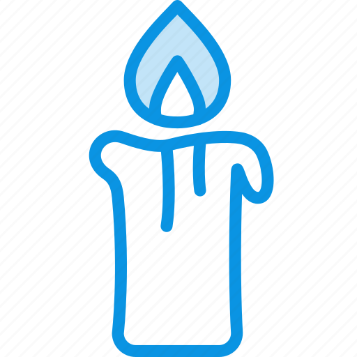 candle, fire, light icon