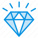 adamant, brilliant, diamond, jewelery, mineral, present, stone icon