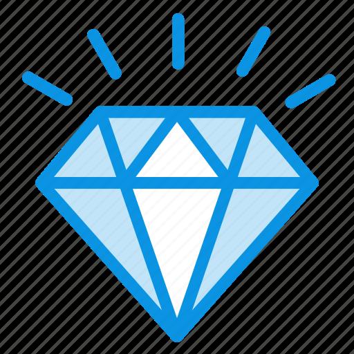 adamant, brilliant, diamond, jewelery, mineral, present, stone icon