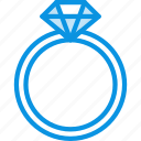 diamond, present, ring icon