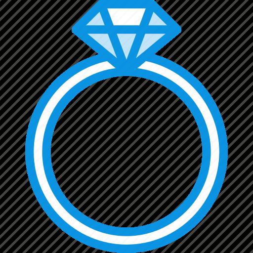 brilliant, diamond, gift, jewelery, present, ring, stone icon