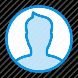 avatar, boy, man, profile, round, user icon