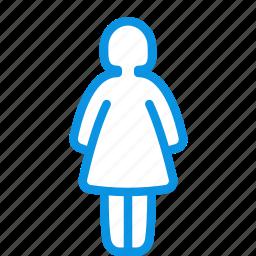 human, woman icon