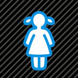 girl, human icon