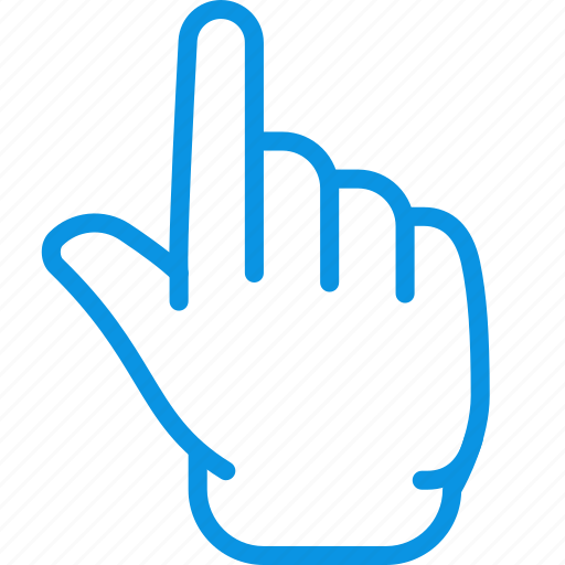 finger, forefinger, gesture, hand, idea, touch, up icon