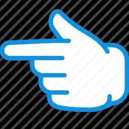 finger, hand, left icon
