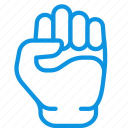 fist, gesture, hand, knuckle, kulak, will, willpower icon
