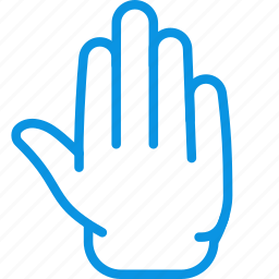 fingers, five, gesture, palm icon