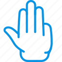 fingers, gesture, hand icon