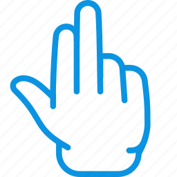 fingers, gesture, grab, hand, palm, three icon
