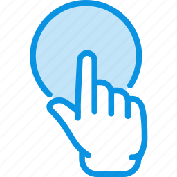 click, finger, gesture, hand, point, pointing, touch icon