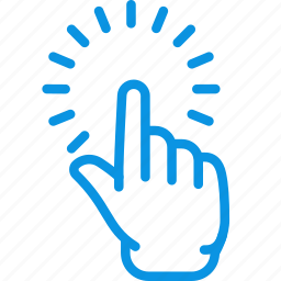 click, finger, touch icon