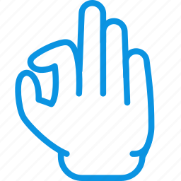 gesture, in, pinch, zoom icon