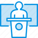 education, presentation, speech icon
