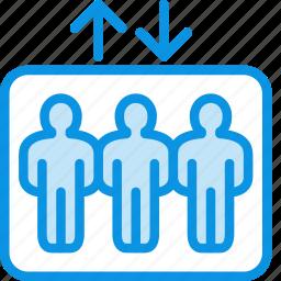 elevator, lift, passenger icon