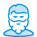 avatar, beard, guy, human, man, user icon