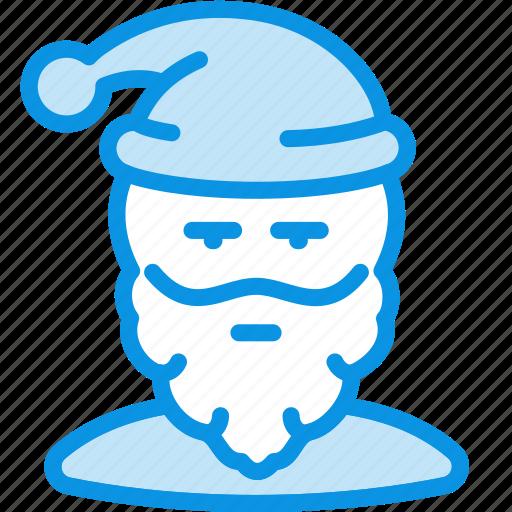 avatar, claus, frost, grandfather, santa, user icon