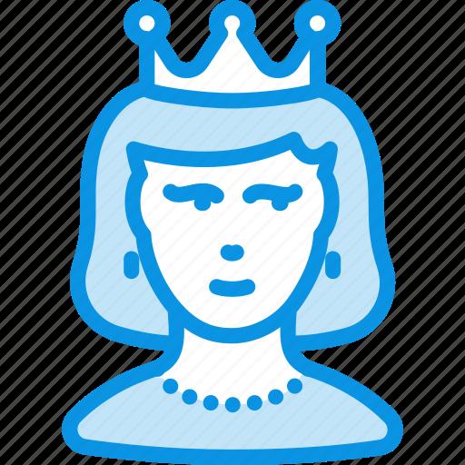 princess, queen, woman icon