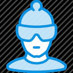 athlete, avatar, human, olympian, skier, sportsman icon