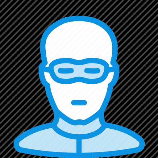 avatar, bald, bandit, human, thief icon