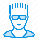 athlete, avatar, glasses, guy, human, sportsman icon