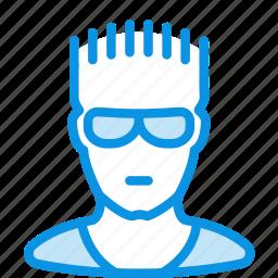 glasses, man, sportsman icon