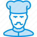 avatar, cook, human, mustache icon