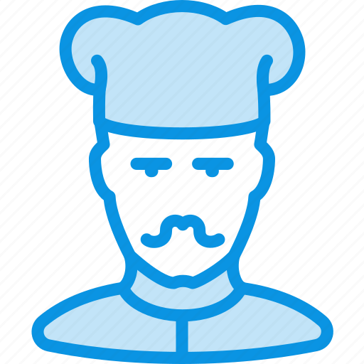 cook, man, mustache icon