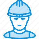 avatar, builder, human, industrial, man, working icon