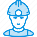 man, miner, work icon