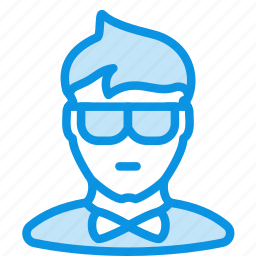 man, office, showman icon