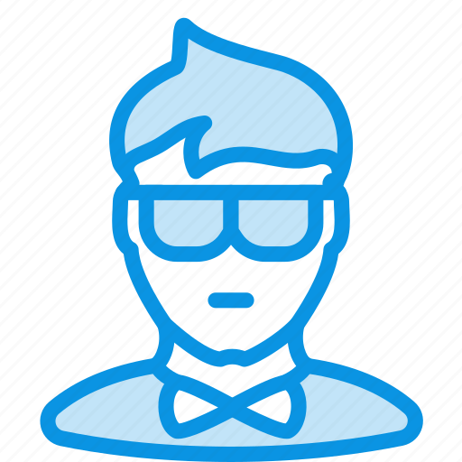 avatar, clerk, hipster, human, man, office, showman icon