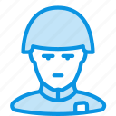 helmet, human, soldier icon