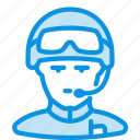 helmet, man, soldier icon