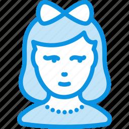 avatar, child, girl, human icon