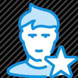 avatar, favorite, friend, human, user icon