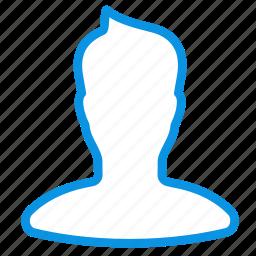 avatar, boy, man, profile, silhoette, user icon