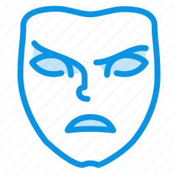 angry, emotion, evil, face, mask, mimicry icon