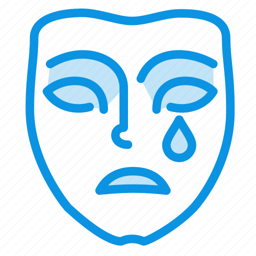 emotion, mask, sad icon