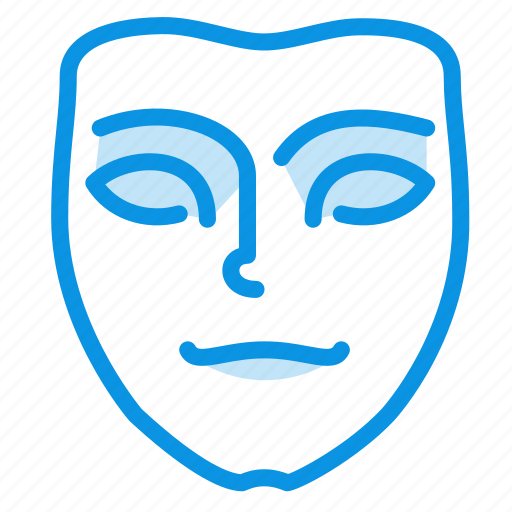 emotion, face, mask, meditative, mimicry, pensive icon