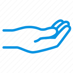 hand, palm, share icon