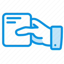 business, card, cutaway, hand, pass icon