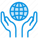 care, cover, guardar, hands, peace, save, world icon